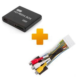 Мультимедійний Full HD плеєр і кабель під'єднання для моніторів Toyota Citroen і Peugeot X Touch X Nav