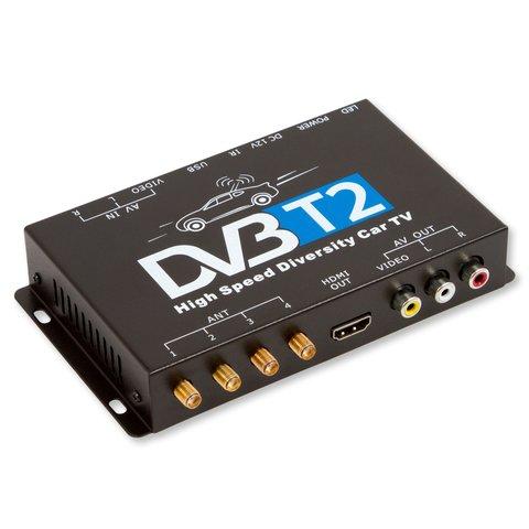 car dvb t2 tv receiver tuner with 4 waterproof antennas. Black Bedroom Furniture Sets. Home Design Ideas