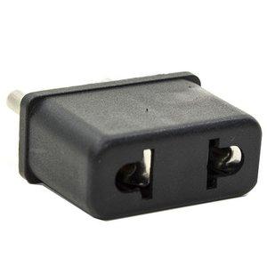 Mains Adapter, US-EU, Black