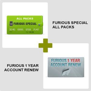 Furious SPECIAL ALL PACKS + Furious 1 Year Account Renew