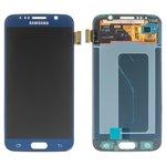 Pantalla LCD para celulares Samsung G920F Galaxy S6, G920FD Galaxy S6 Duos, azul, con cristal táctil, original (vidrio reemplazado)