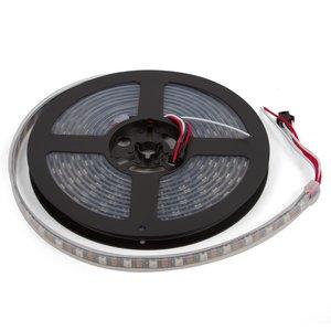 Світлодіодна стрічка RGB SMD5050, WS2812B (з управлінням, чорна,  IP67, 5 В, 60 діодів/м, 1 м)