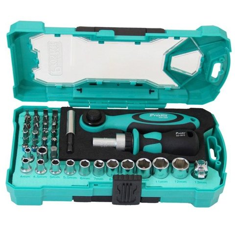 Набір біт з тріскачкою та ключем ProsKit SD 2317M