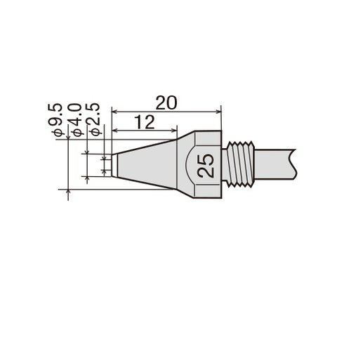 Desoldering Tip GOOT TP-100N-25