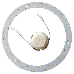 Juego de piezas para armar lámpara LED de 18 W (luz blanca natural, redondo, 4000-4500 K)